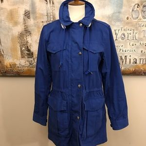 j Crew Royal Blue Anorak Jacket EUC Size S